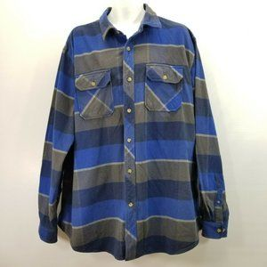Falls Creek Mens XXLT 2X Tall Heavy Cotton Flannel